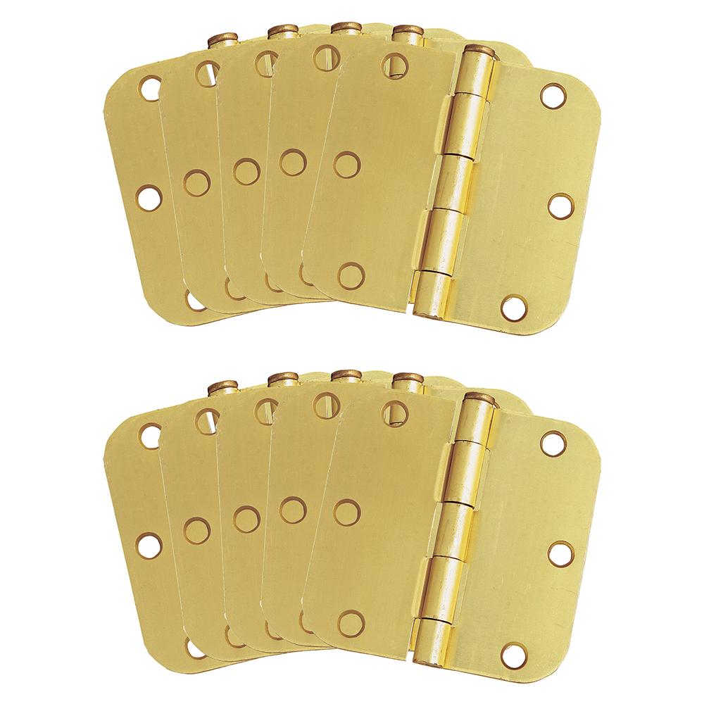 """Design House 181404 10-Pack Hinge 3.5"""", Satin Brass"""