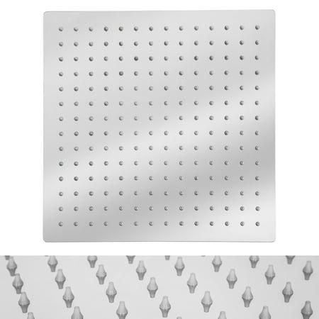 HURRISE 12'' Stainless Steel Rainfall Shower Head Waterfall Rain Chrome Square UltraSlim, Waterfall Rain Chrome Square - image 4 de 6