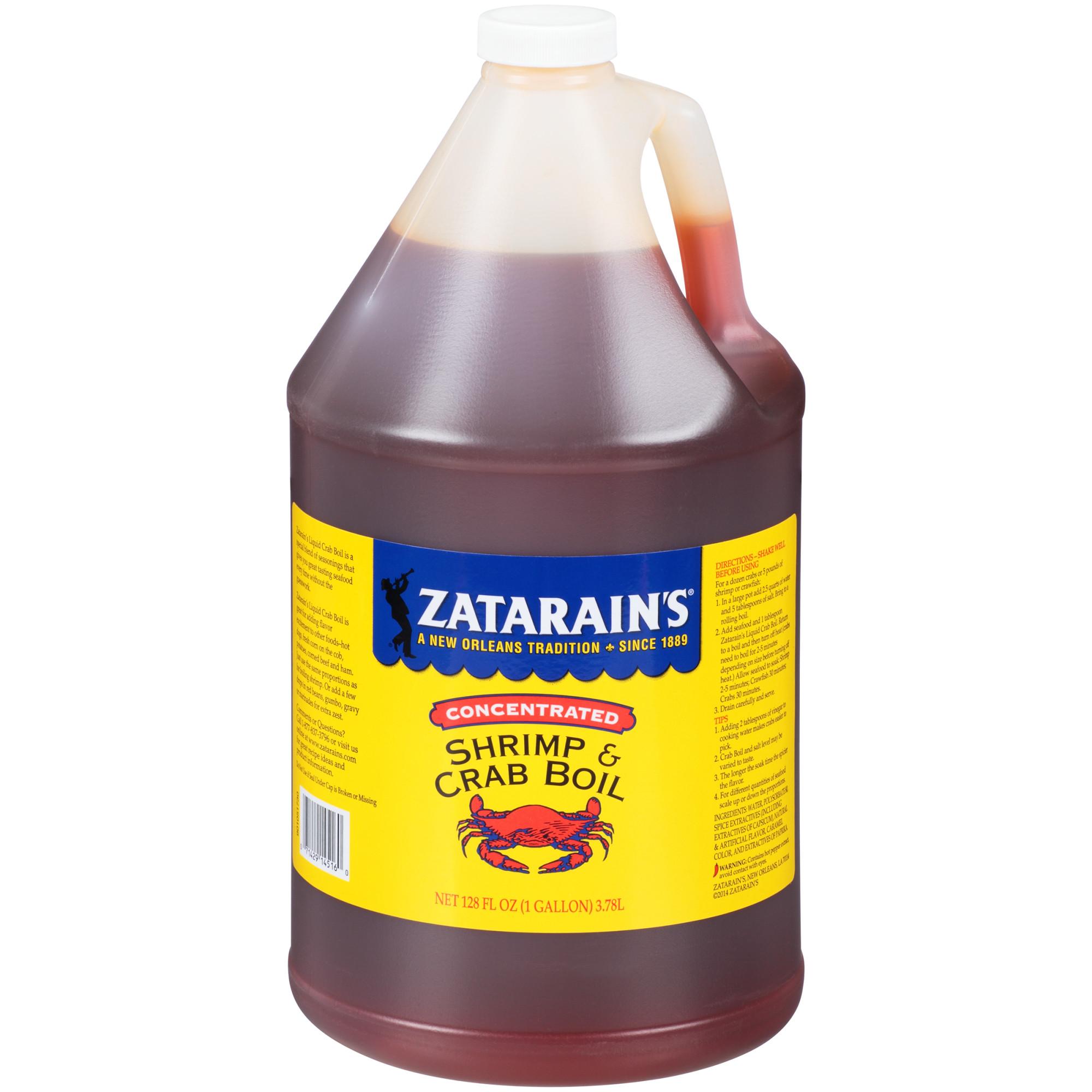 Zatarain's Concentrated Liquid Shrimp & Crab Boil, 1 gal