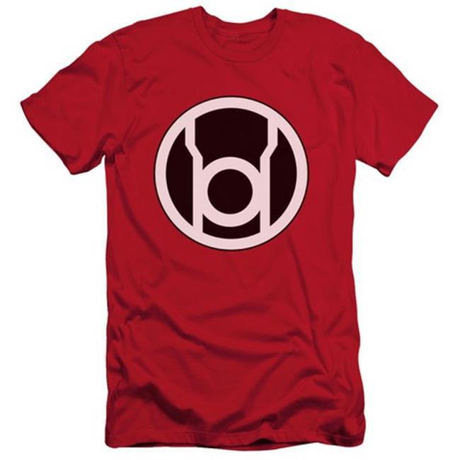 Green Lantern-Red Lantern Logo Short Sleeve Adult 30-1 Tee, Red - Large