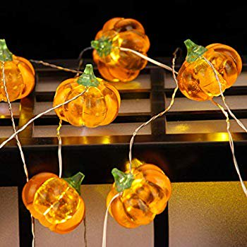 Ideas For Making Halloween Decorations (Harvest, Halloween Festive Lighting Decoraions, 3D Pumpkin Themed Timer String Lights, 10ft 20LEDs with Remote & Multi Flicker Mode, Ideas for House, Wedding, Cosplay, Birthday, Bedroom, Porch)