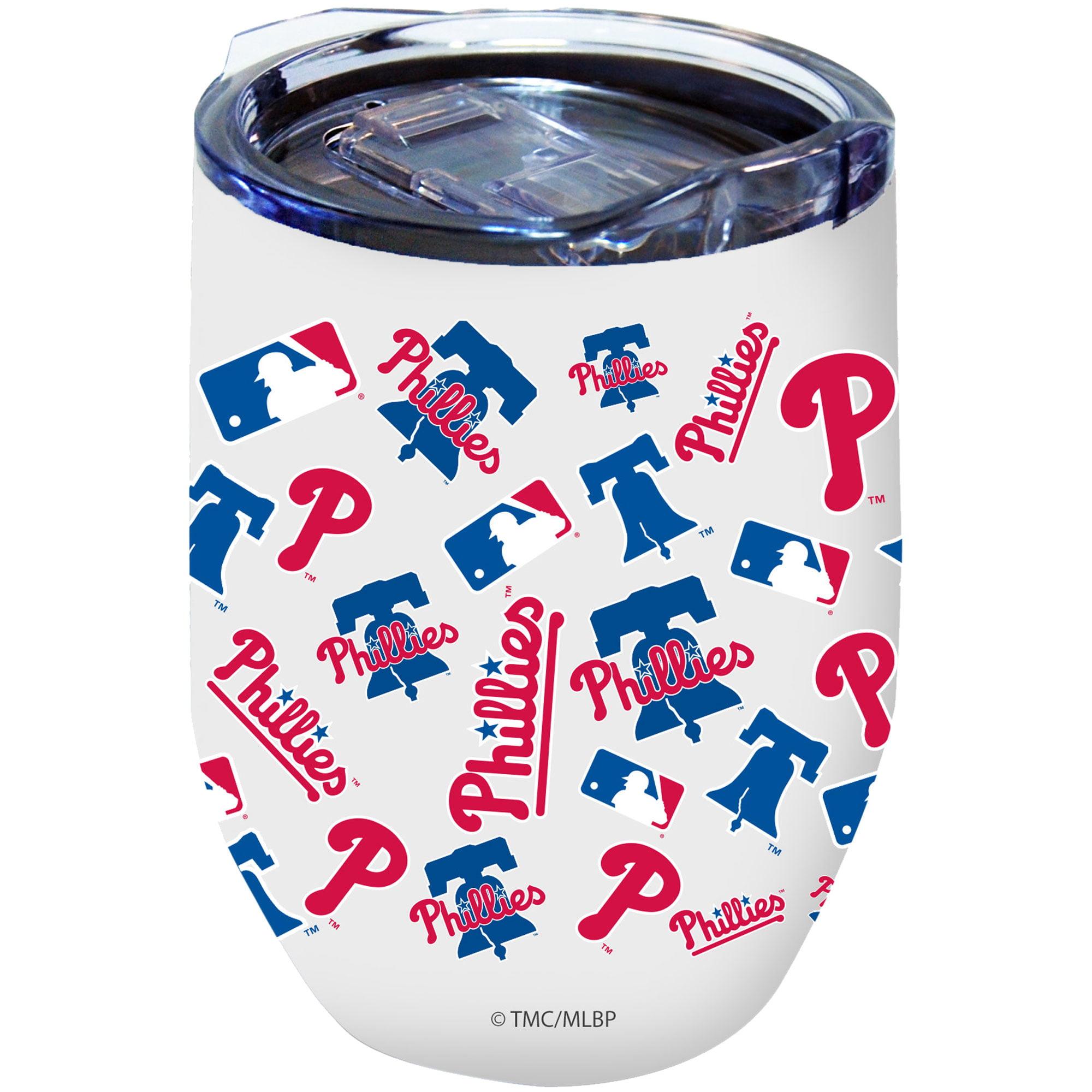 Philadelphia Phillies 16oz. Powder-Coated Full Wrap Stemless Tumbler Cup - No Size