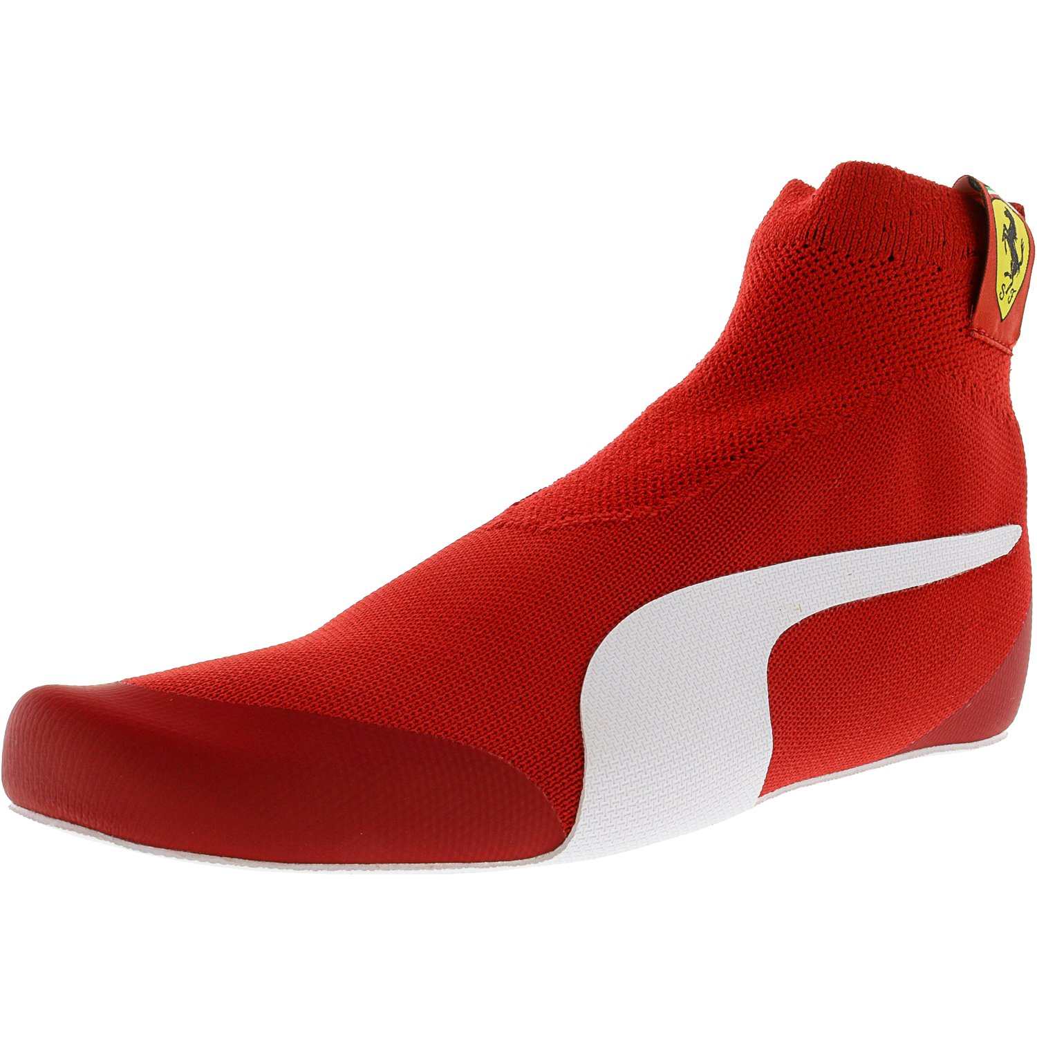 Puma Men's Ferrari Driver Evoknit Replica Rosso Corsa   White Black Ankle-High Fashion Sneaker 10.5M by Puma