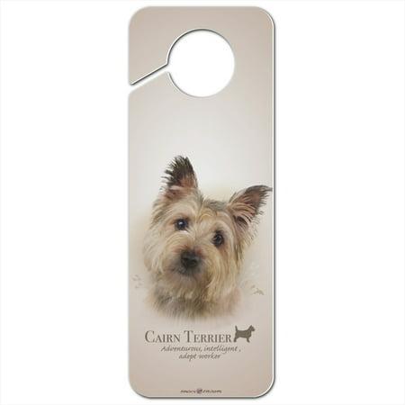 Cairn Terrier Dog Breed Plastic Door Knob Hanger Sign Terrier Door Hanger