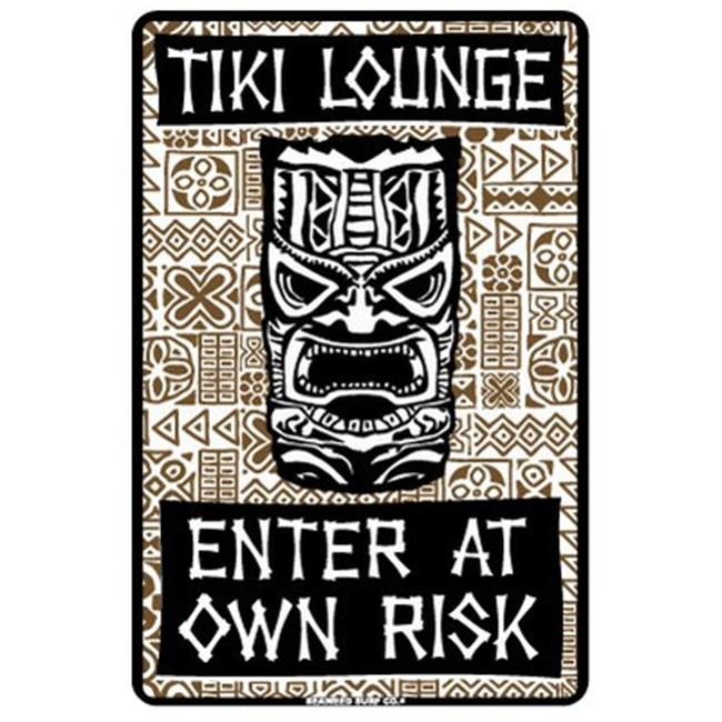 Seaweed Surf Co AA12 Tiki Lounge Enter at Own Risk signs