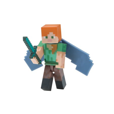 Minecraft Alex With Elytra Wings Figure Pack Action