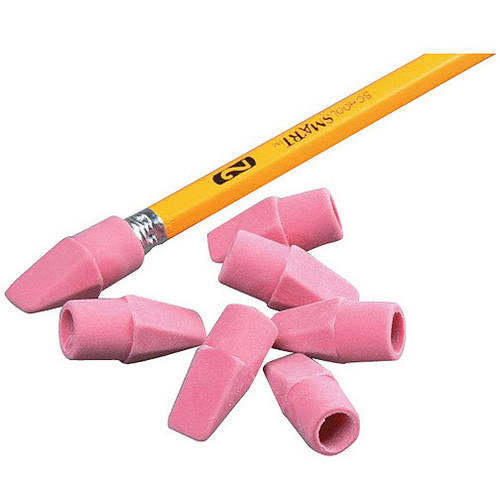 School Smart Wedge Cap Pencil Tip Erasers, Box of 144, 2 Pack