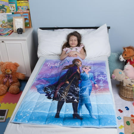 "Disney's Frozen 2 Kids Weighted Blanket, Super Soft Plush, 36""x48"" 4.5lbs, feat. Elsa & Anna"