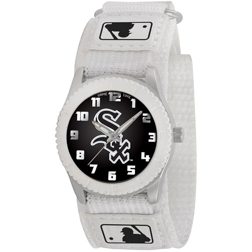 Game Time MLB Kids' CChicago White Sox Rookie Series Watch, White Velcro Strap