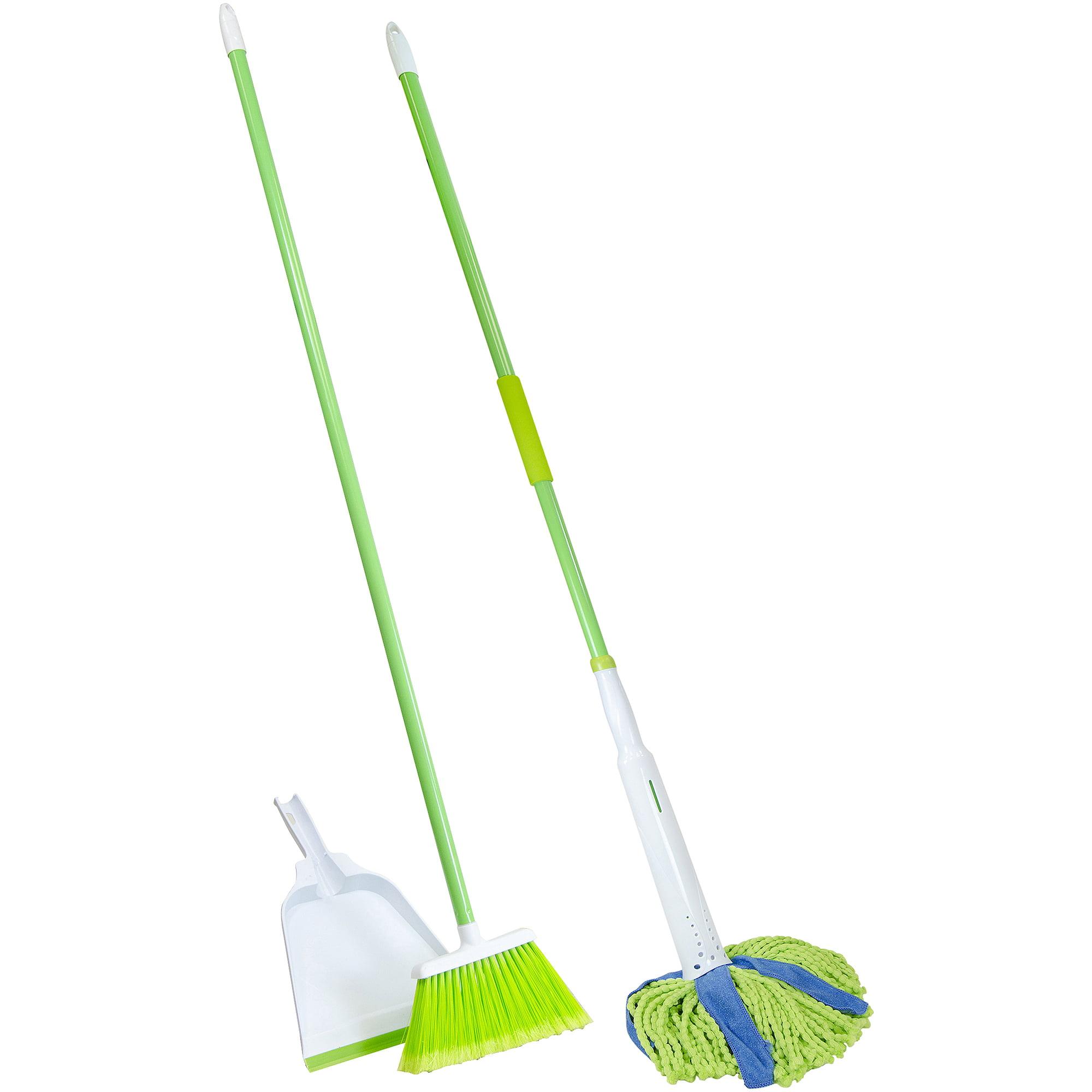 Mop : Mop And Broom Lysol broom with dustpan & microfiber cone mop value ...