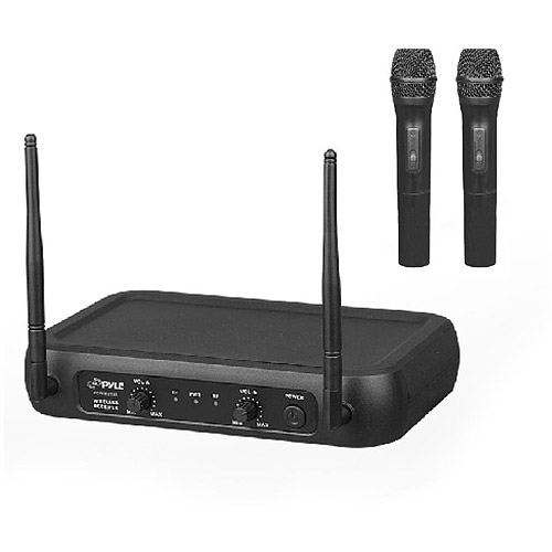 Pyle-Pro VHF Fixed Frequency Wireless Microphone System with 2 Handheld Mics and... by Pyle