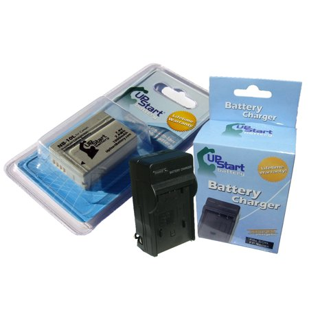 Canon PowerShot SX40 HS Battery and Charger - Replacement for Canon NB-10L Digital Camera Batteries and Chargers (1000mAh, 7.4V, Lithium-Ion)