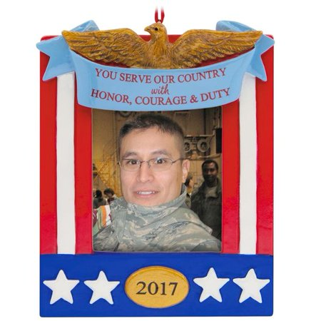 Patriotic Picture Frame 2017 Hallmark Ornament (Patriotic Photo Frames)