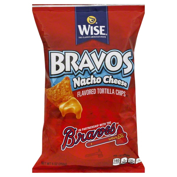 Wise Foods Wise Bravos Tortilla Chips, 9 oz