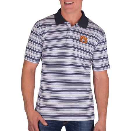 Ncaa Auburn Tigers Mens Classic Fit Striped Polo Shirt