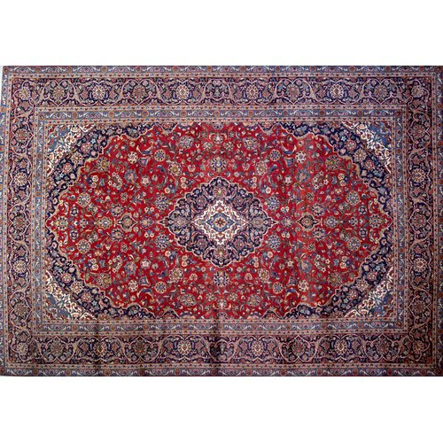 Isabelline One-of-a-Kind Pitchford Hand-Knotted 8'3'' x 11'11'' Red/Purple Area Rug