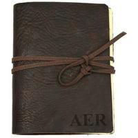 Custom Genuine Leather Antique Wrap Journal