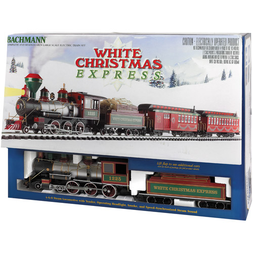 Bachmann White Christmas Express Large Scale (G Scale) Ready-to-Run Electric Train Set
