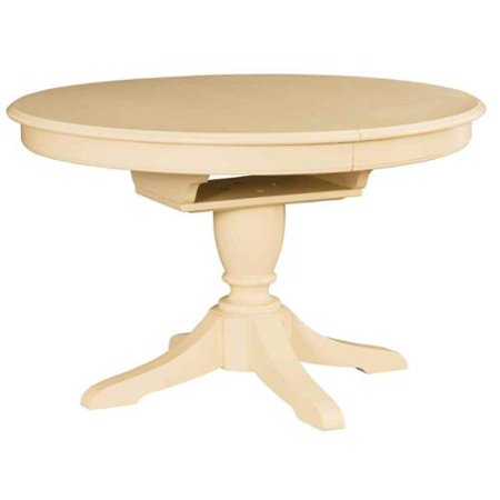 camden light round dining pedestal table in white