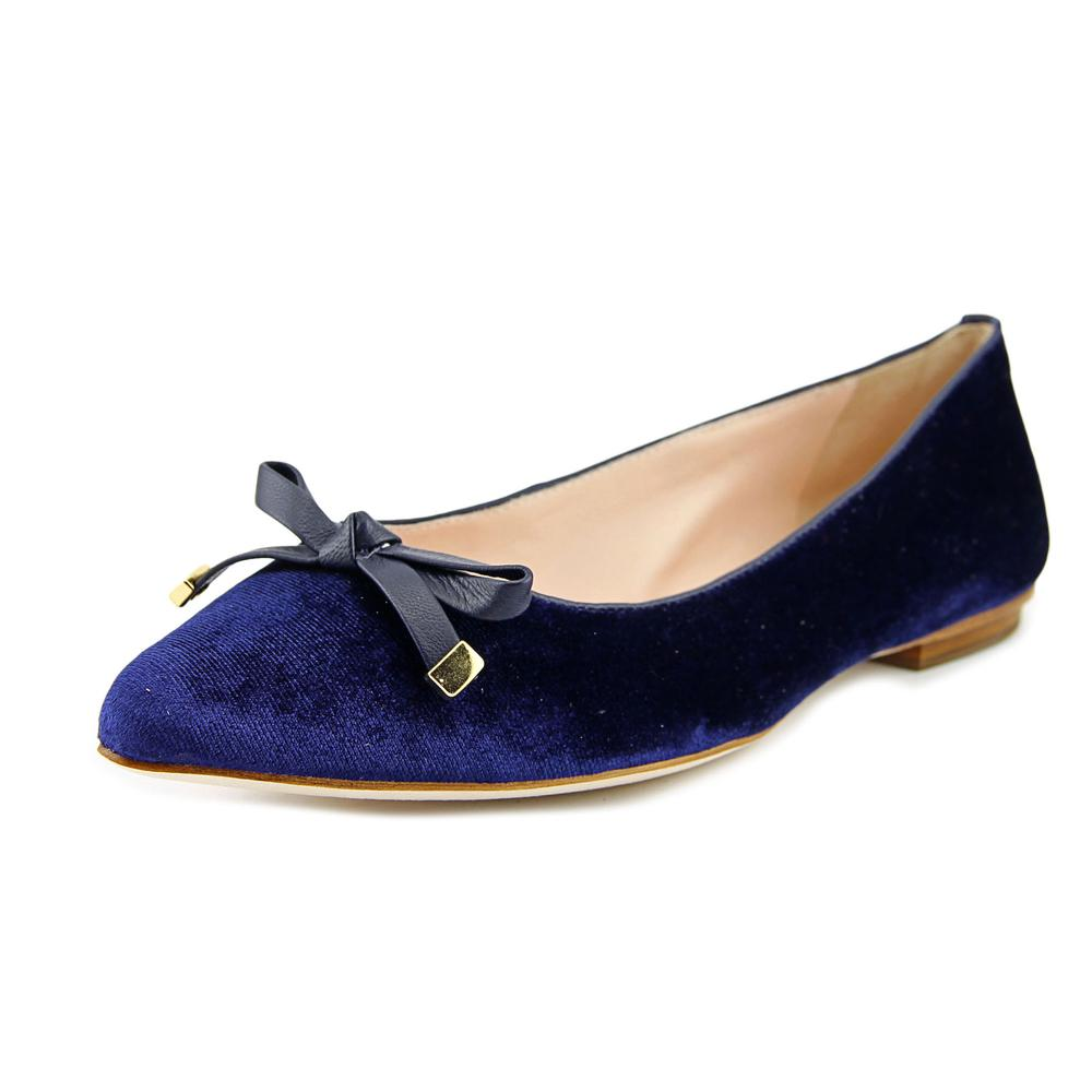Kate Spade Emma Too Women Pointed Toe Suede Blue Flats by kate spade