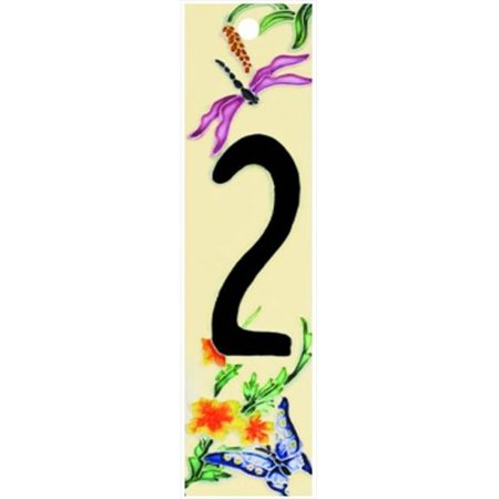 Natural Series 2 - Decorative Ceramic Art Tile - House Number - 2 in.x8.5 in.