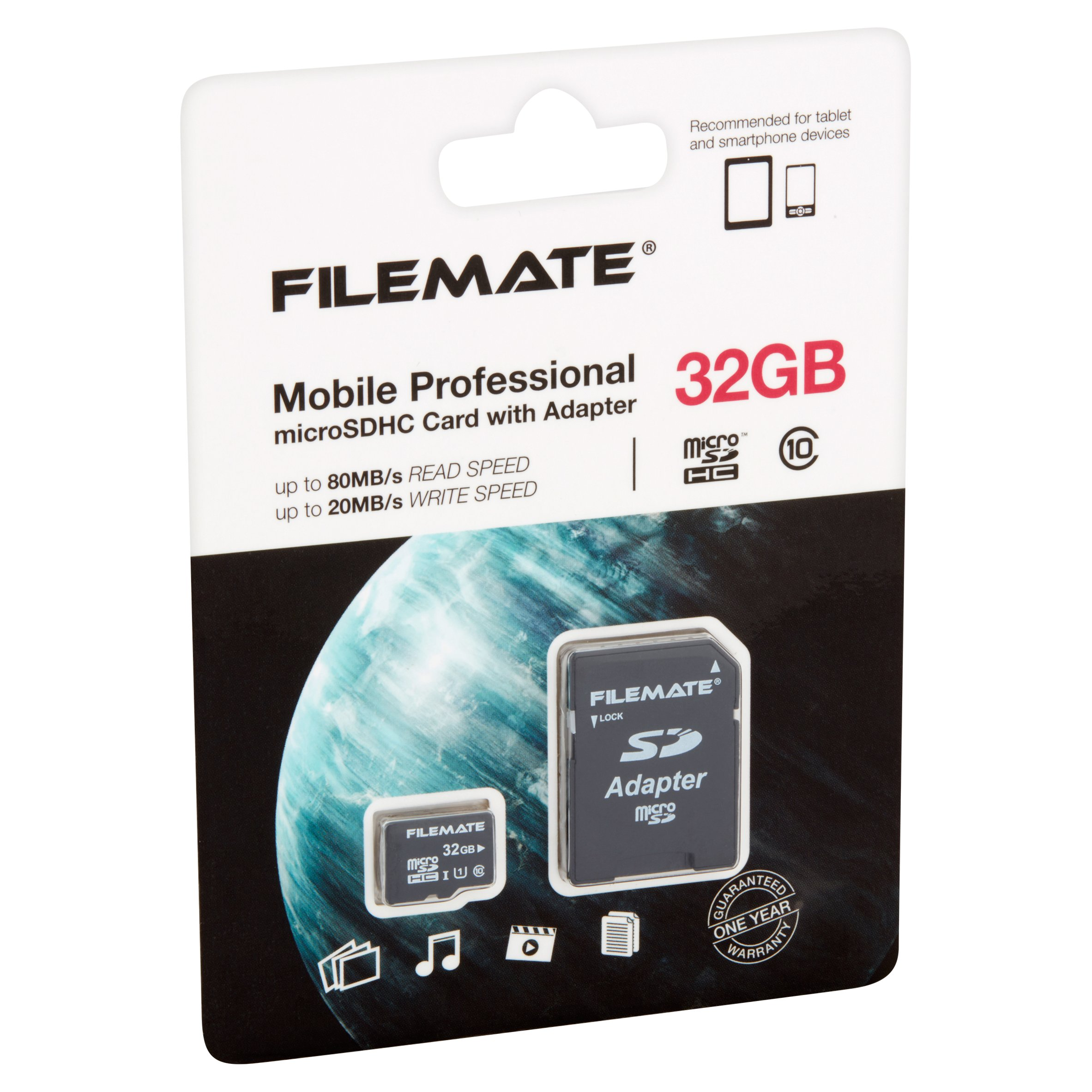 Wintec FileMate 32GB microSD Card Class 10 With SD Adapter