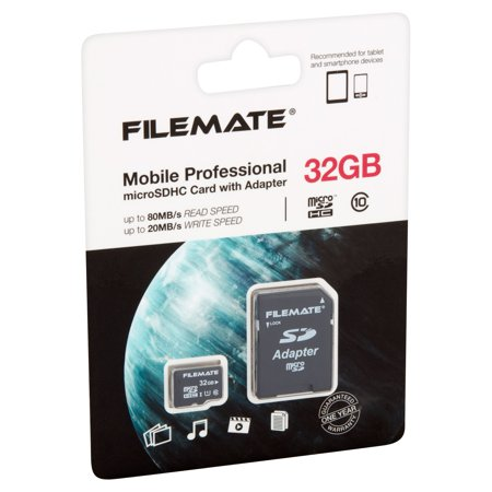Wintec FileMate 32GB microSD Card Class 10 With SD