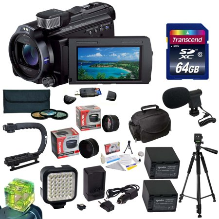 Sony 96GB HDR-PJ790 HD Handycam Camcorder/Projector with 32GB Memory Card, Card Reader, 3 Piece Filter Kit, FV70 Battery, Charger, Tripod, X-GRIP Handle, LED Light, Carrying Case, Cleaning Kit, More