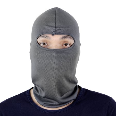 Full Face Protector - Motorcycle Hiking Sports Full Face Mask Cover Neck Protector Balaclava Cap Hat Gray