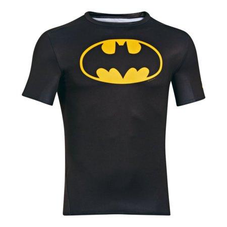 Men's Alter Ego Short Sleeve Compression Shirt - Black/Taxi,