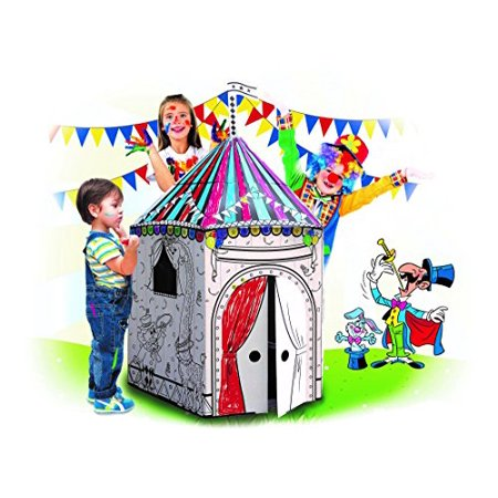 My Circus Coloring Paper Playhouse For Kids - Foldable For Easy Storage