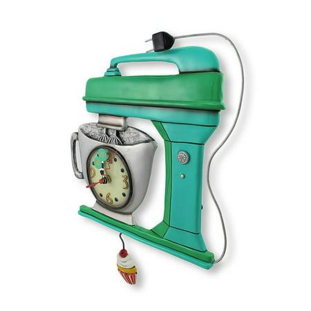 Allen Designs Vintage Mixer Green Pendulum Clock (Green Man Pendulum)