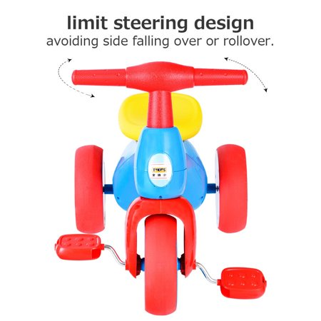 Costway 2 in 1 Toddler Tricycle Balance Bike Scooter Kids Riding Toys w/ Sound & Storage - image 4 of 10