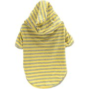 Stellar Pet Boutique Yellow Striped Hoodie-Extra Small