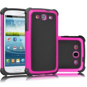 Galaxy S3 Case, Tekcoo(TM) [Tmajor Series] Shock Absorbing Hybrid Rubber Plastic Impact Defender Rugged Slim Hard Case Cover Shell For Samsung Galaxy S3 S III I9300 GS3 All Carriers