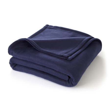 - Martex Super Soft Fleece Blanket, King Navy