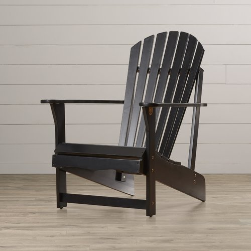 International Concepts Adirondack Chair, Black