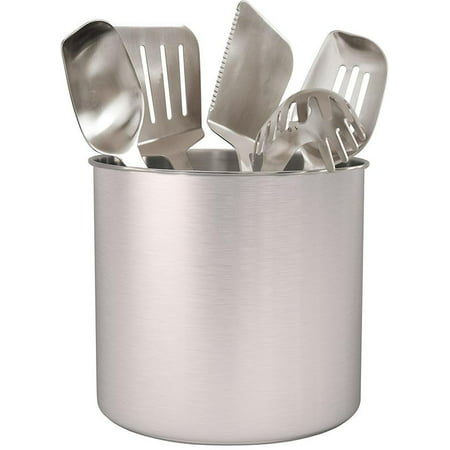 Estilo Stainless Steel Utensil Holder, Jumbo - 7 x 7 inches ()