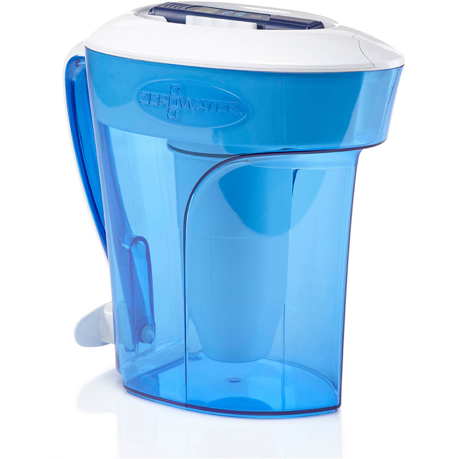 ZeroWater 12-Cup Ready-Pour Pitcher with Free TDS Meter (Total Dissolved Solids) ZD-012RP