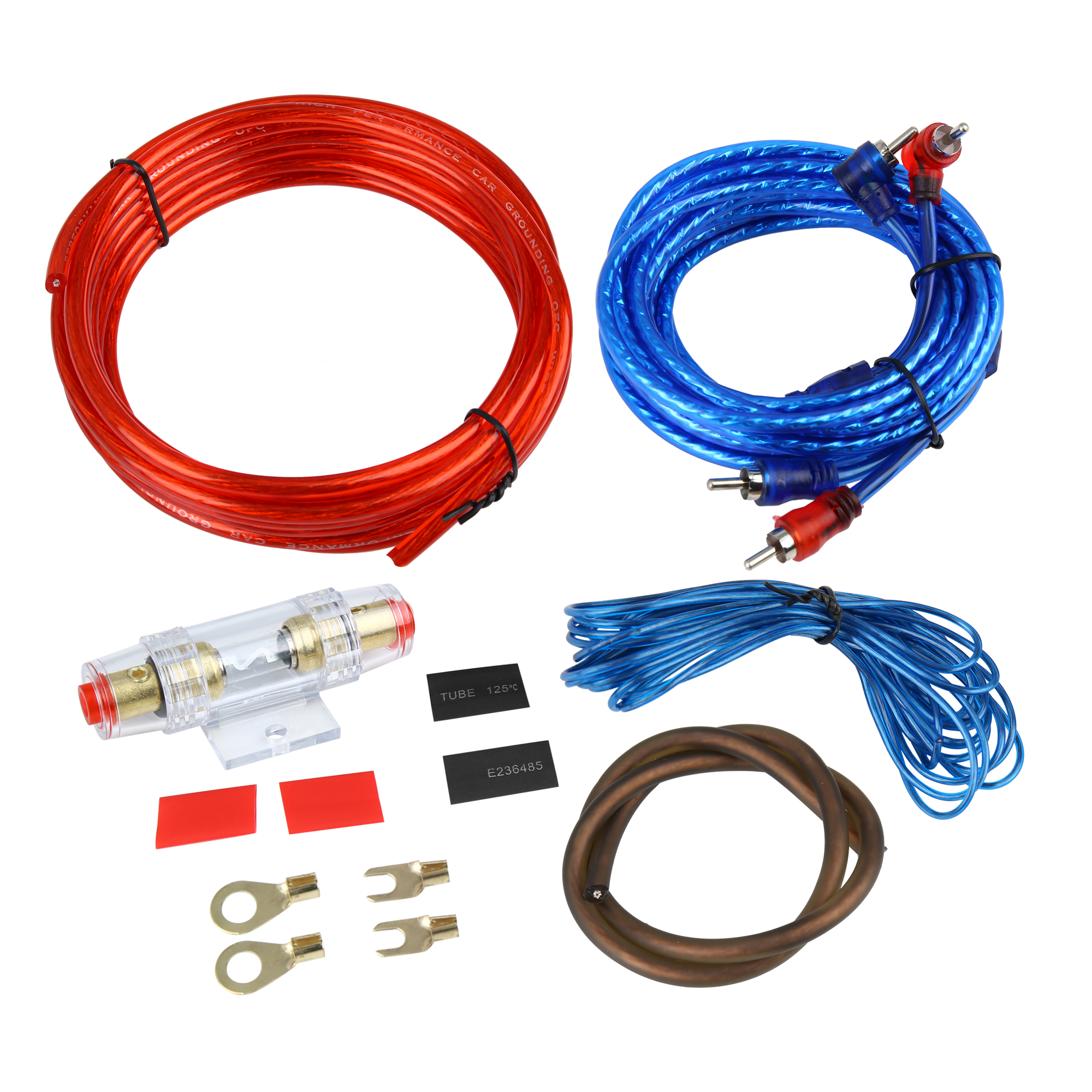 universal auto car amplifier wiring kit audio subwoofer rca power cable fuse set Auto Electrical Wiring Kits