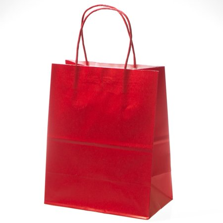 Medium Red Kraft Gift Bags