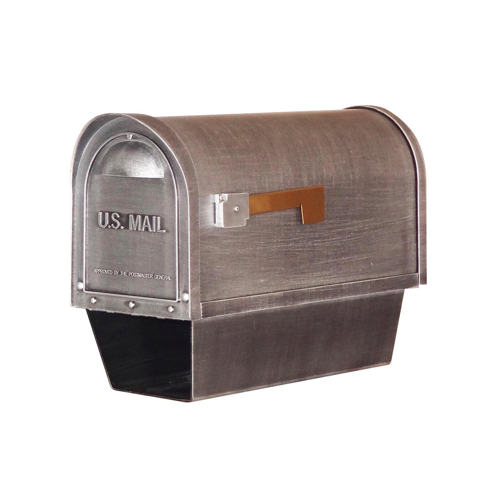 Special Lite Products SHC-1002-BLK Contemporary Horizontal Mailbox Black