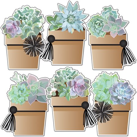 Simply Stylish Potted Succulents Cut-Outs