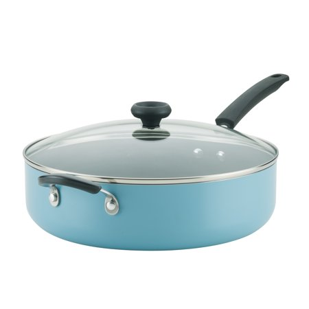 Farberware Easy Clean Aluminum 6 Quart Non-Stick Covered Jumbo Cooker with Helper Handle ()