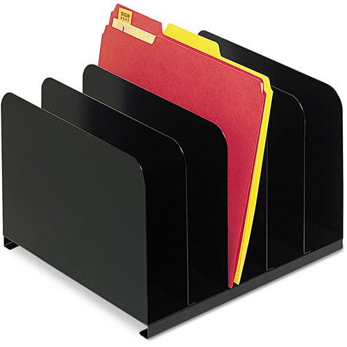 SteelMaster by MMF Industries Desktop Vertical Organizer, Black