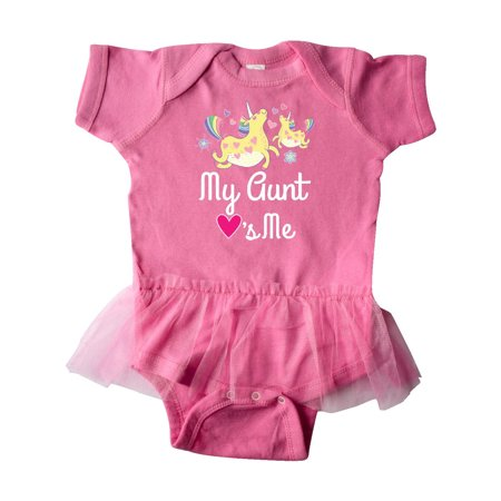 (My Aunt Loves Me Unicorn Infant Tutu Bodysuit)