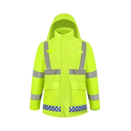 SFVest High Visibility Reflective Rainwear Coat Luminous Safety Raincoat Outdoor Hiking Riding Men and Women Waterproof 300D Oxford Cloth Coating Cloth Riding Jacket