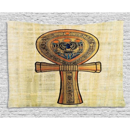 Egyptian Tapestry Ancient Wall Decor by , Papyrus Presenting the Key ...