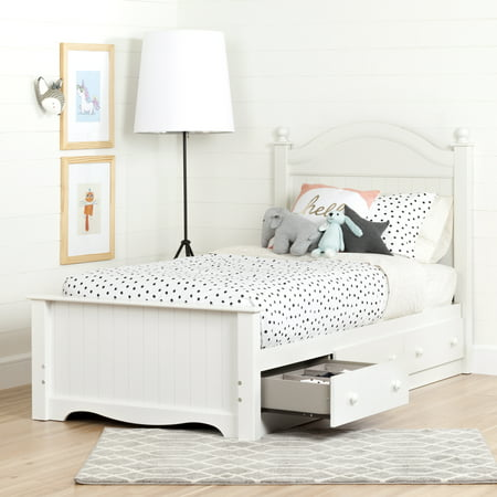 Savannah Poster Bed - South Shore Savannah 3-Drawer Storage Bed, Twin, Multiple Finishes