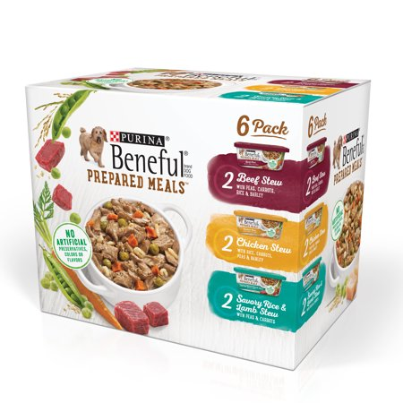 Purina Beneful Prepared Meals Beef Stew, Chicken Stew, and Savory Rice & Lamb Stew Adult Wet Dog Food Variety Pack - (6) 10 oz. Tubs - Savory Halloween Finger Foods